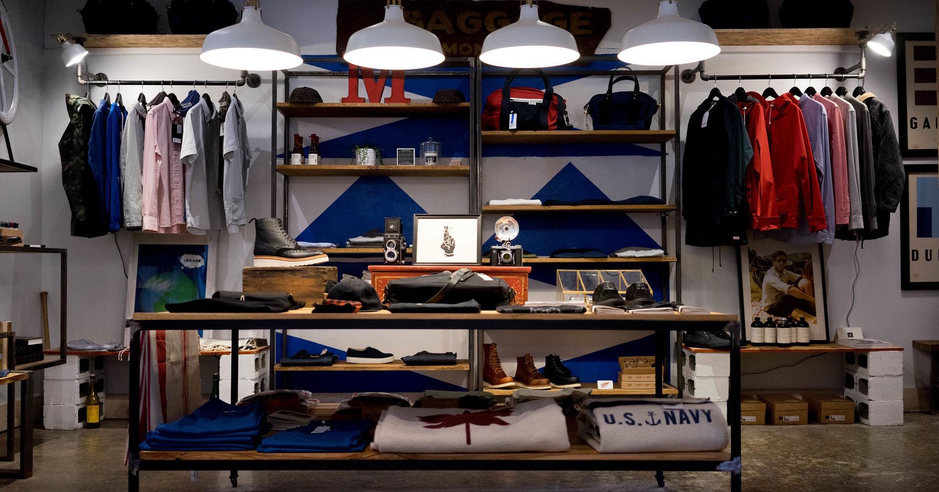 store clothing racks shoes