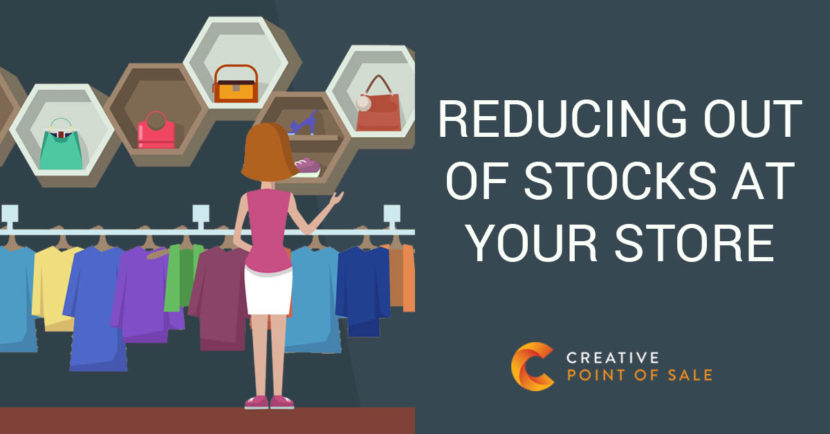 reducing out of stocks at your store vector style creative point of sale